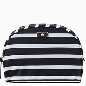 🆕 Kate Spade Dawn Sailing Stripe Cosmetic Bag